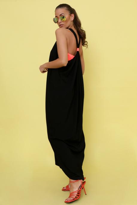 AMNESIA Ricell ruha+ top fekete/uv narancs