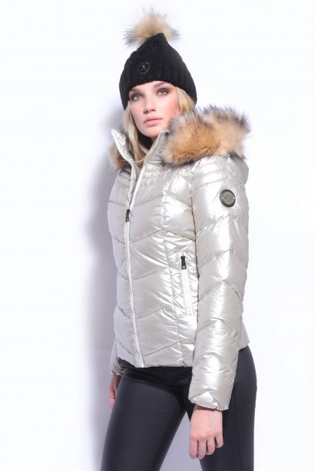 AMNESIA Felül sűrűn steppelt kabát