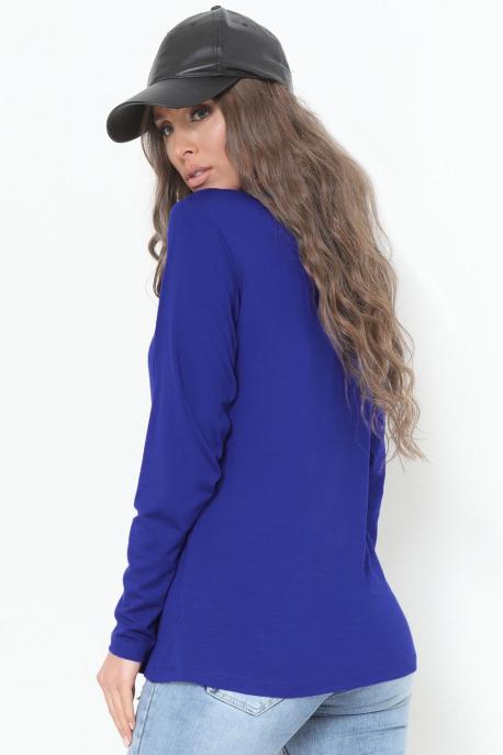 AMNESIA T-póló hosszú ujjú kék girl power
