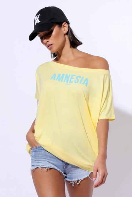 AMNESIA Bony filmnyomott felső sárga