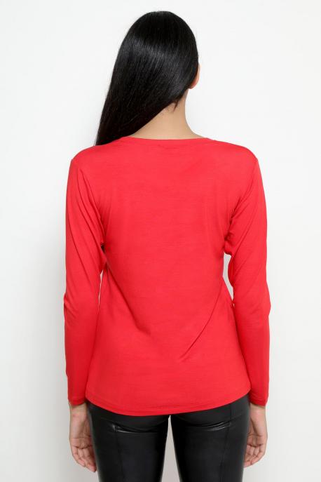 AMNESIA T-póló hosszú ujjú PRIORITY piros