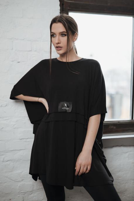 AMNESIA Emy felső+cicanadrág fekete