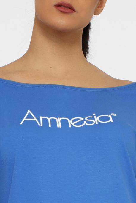 AMNESIA Daisy filmnyomott felső kék