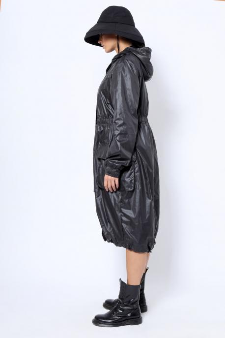 AMNESIA Fekete kabát