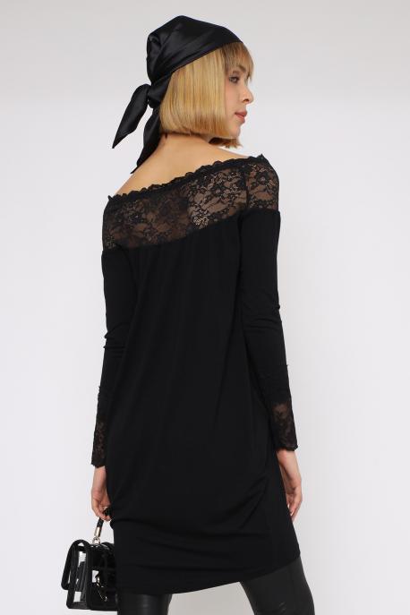 AMNESIA Dorlona tunika fekete