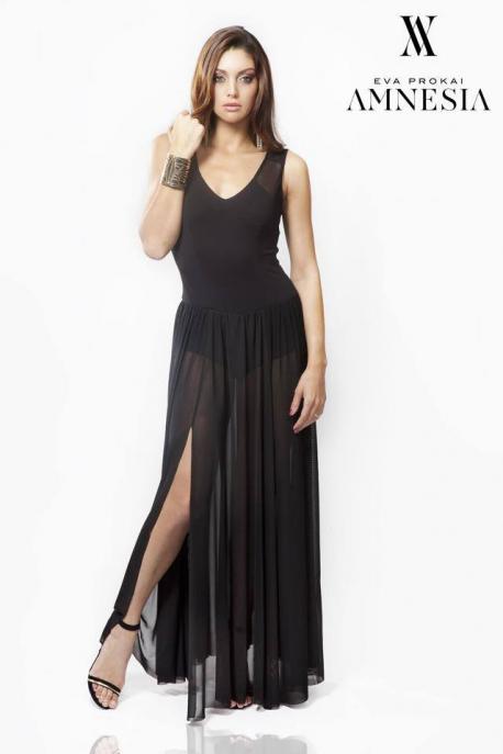 AMNESIA Hosszú bodys elegáns ruha