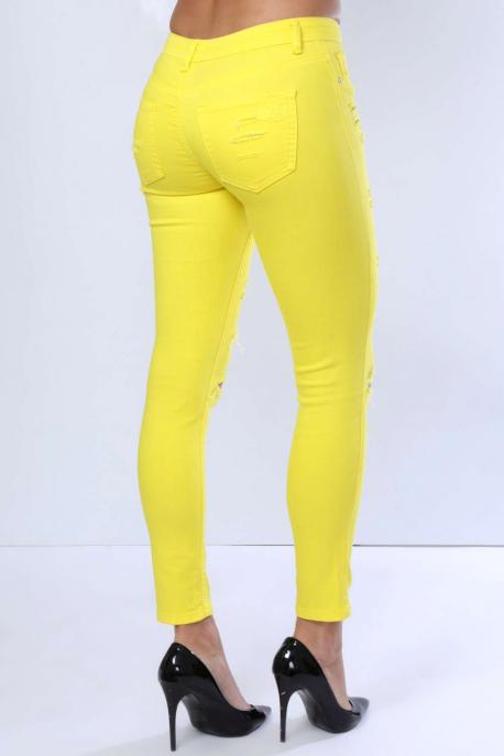 AMNESIA Színes szaggatott nadrág