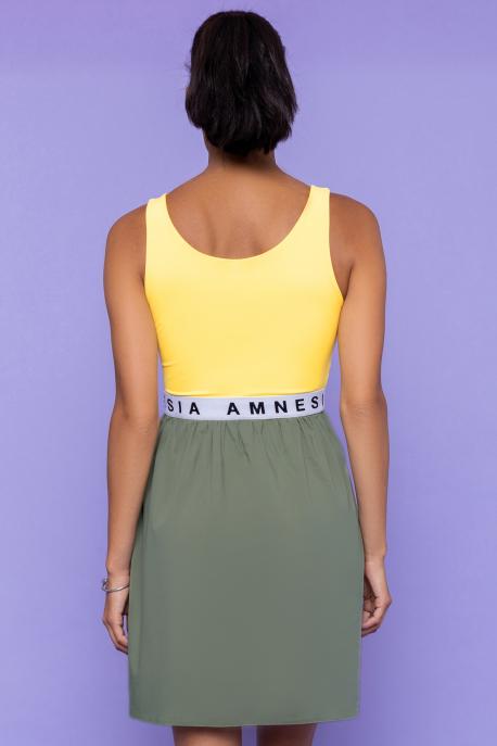 AMNESIA Jubilo ruha khaki-sárga