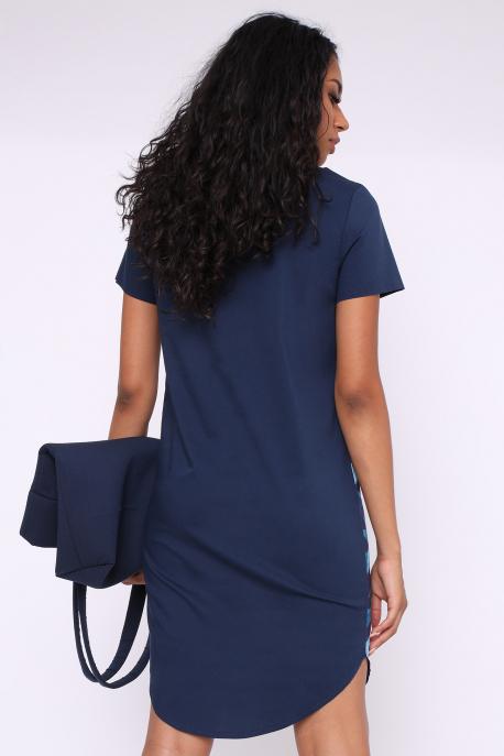 AMNESIA Dason ruha kék mintás