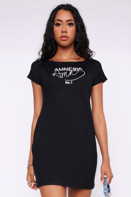 AMNESIA Mandalin tunika fekete
