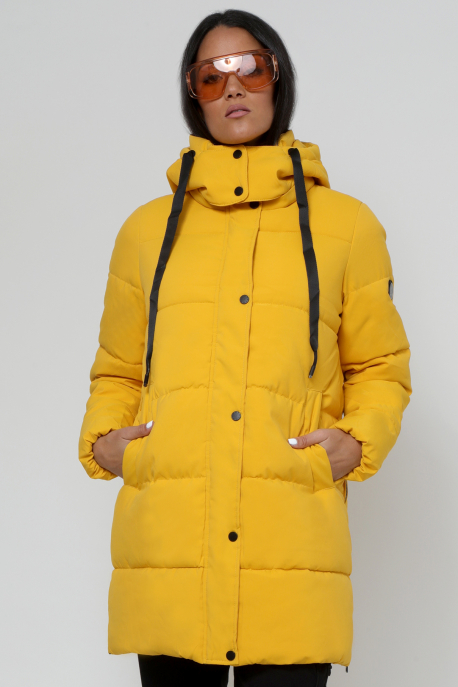 AMNESIA Oldalt zippes 3/4-es kabát okker