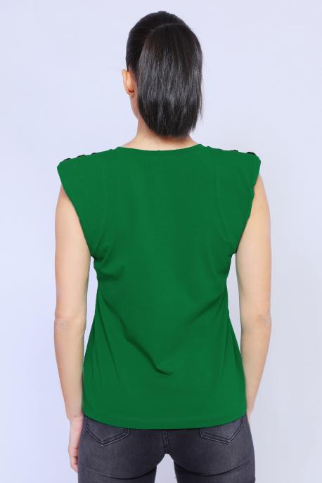 AMNESIA Jamana gombos vállú felső zöld