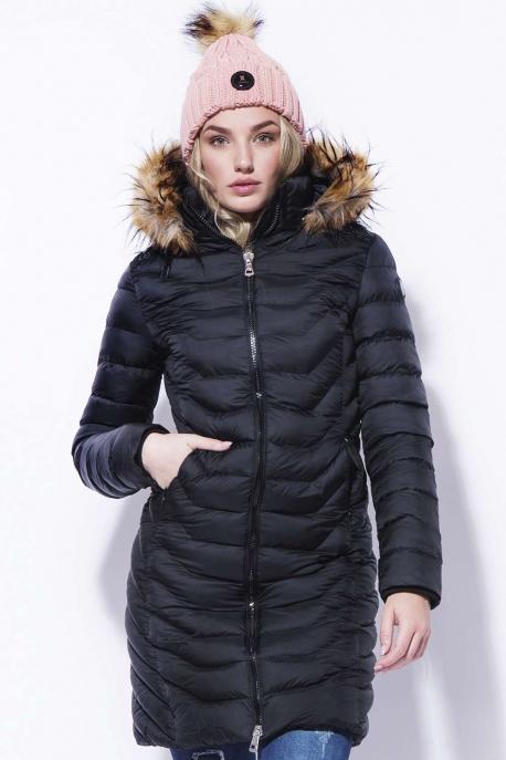 AMNESIA Selyemfényű hosszú kabát