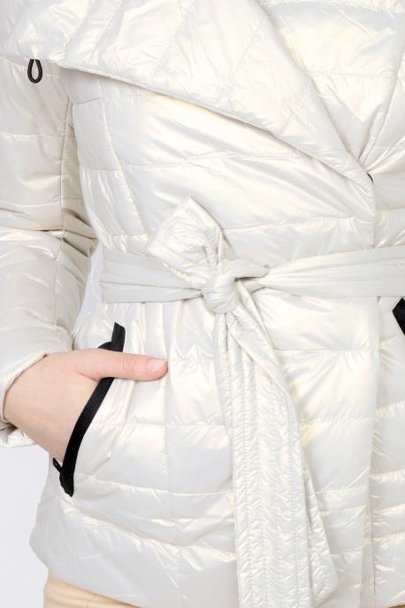 AMNESIA Rövid öves kabát gyöngyház