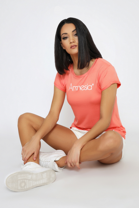 AMNESIA Poppy póló barack