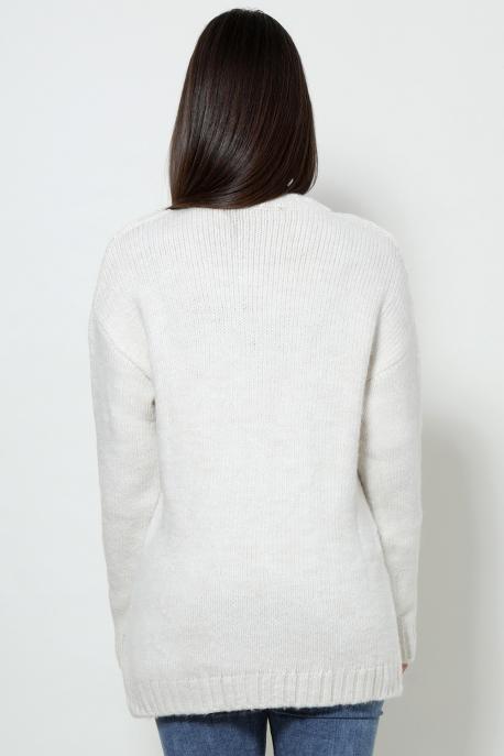 AMNESIA Vegyes pulóver ekrü