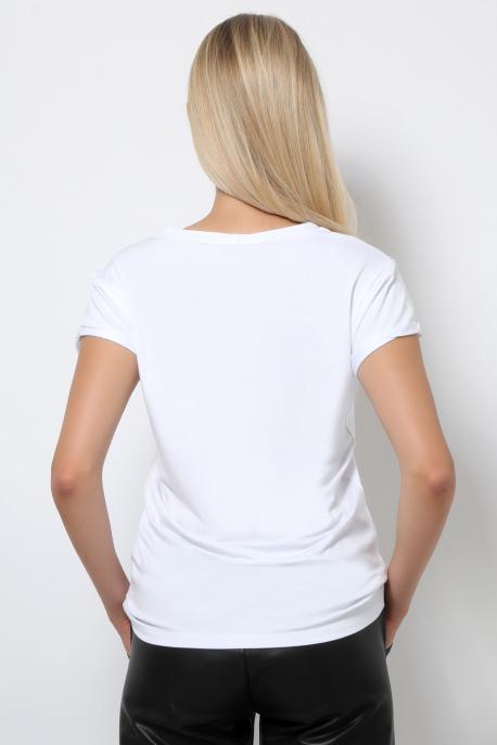 AMNESIA T-póló filmnyomott fehér/friends