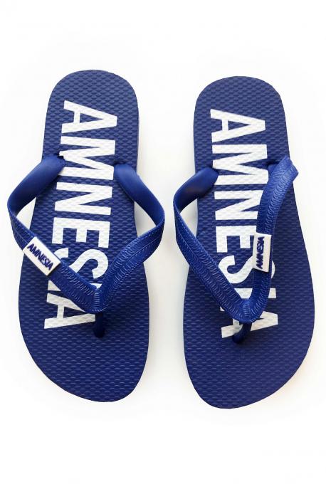 AMNESIA Papucs Kék/Fehér