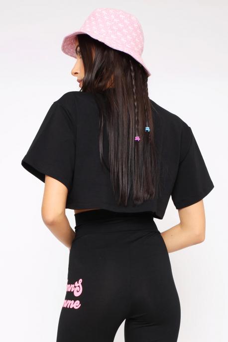 AMNESIA Doffy top fekete