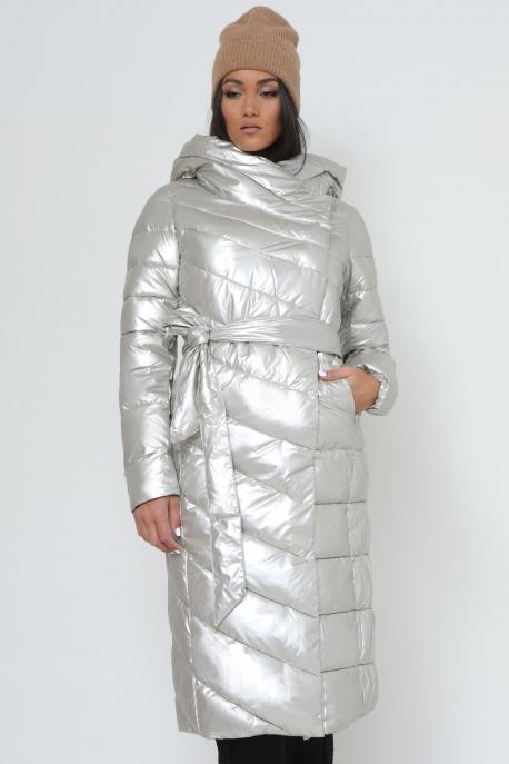 AMNESIA Ferde zippes kapucnis hosszú kabát pezsgő