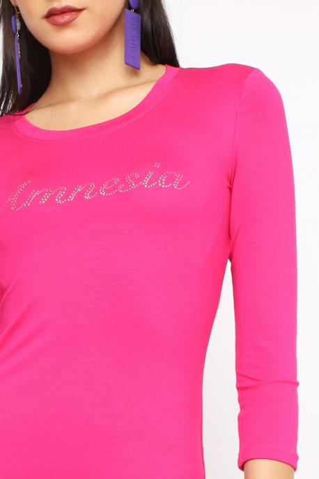 AMNESIA Xavier köves felső rózsaszín