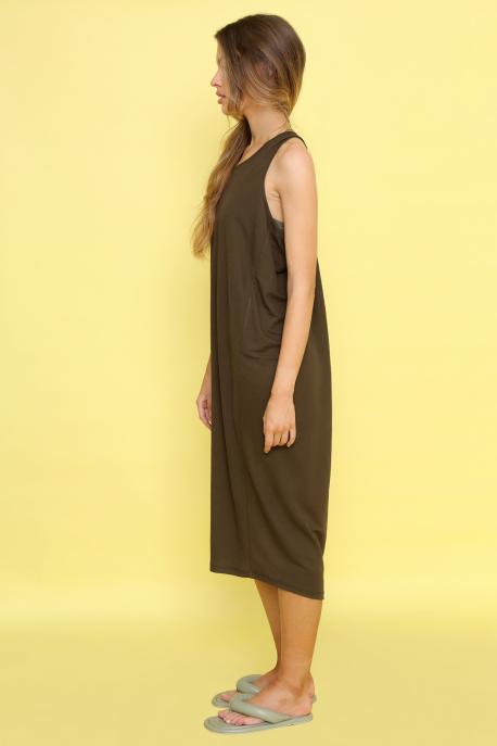 AMNESIA Ricell ruha+ top khaki/khaki top