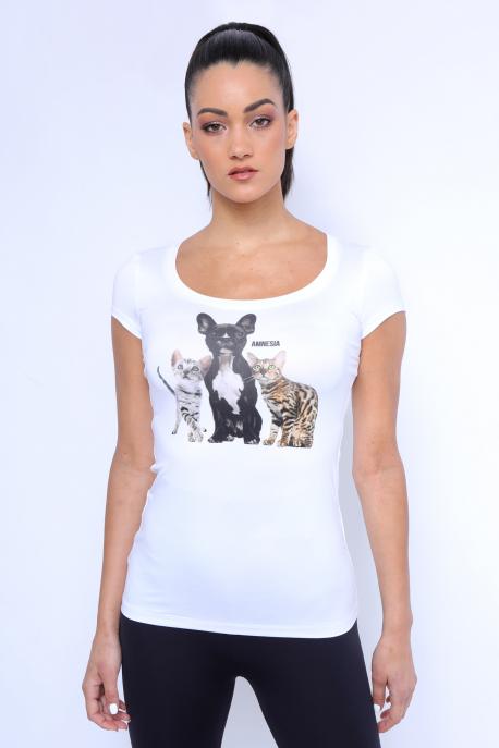 AMNESIA Xerox filmnyomott felső kutya/macska