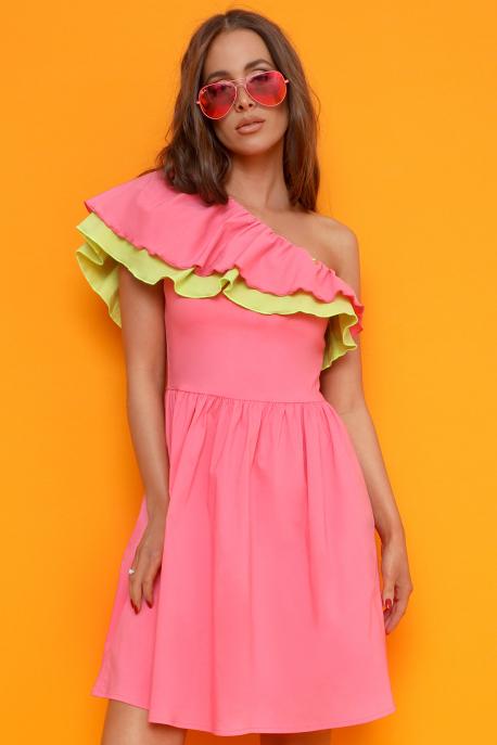 AMNESIA Trena ruha rózsaszín/világoszöld