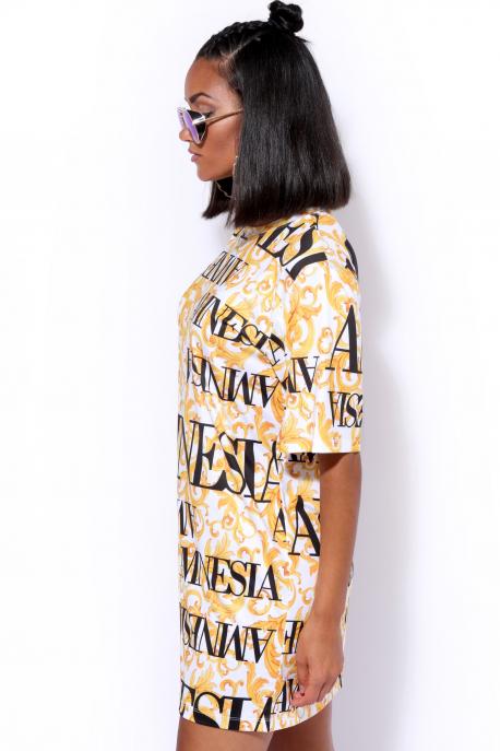 AMNESIA Arléna tunika sárga