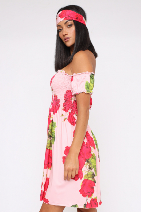 AMNESIA Lola ruha rózsaszín/rózsa