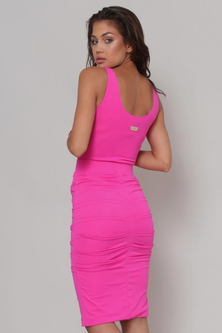 AMNESIA Durvun szoknya rózsaszín