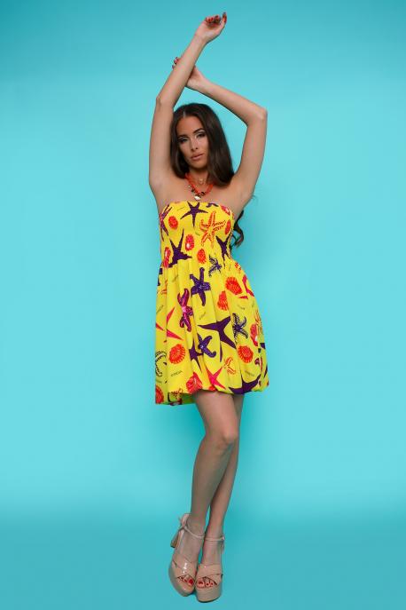AMNESIA Ilani ruha / gumis aljú/ sárga/tengeri