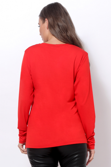 AMNESIA T-póló hosszú ujjú piros/amnesia