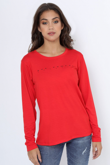 AMNESIA T-póló hosszú ujjú piros
