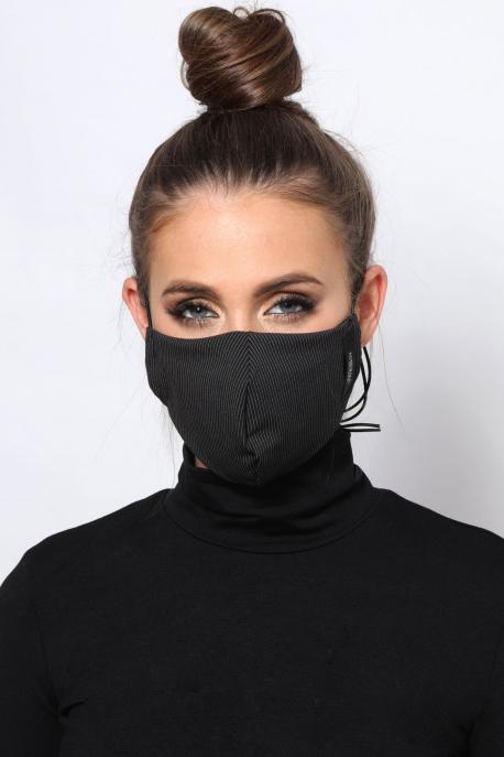 AMNESIA Nyakba akaszthatós maszk csíkos