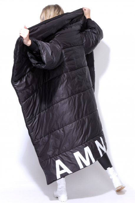 AMNESIA NOLCHA Fekete hosszú kabát