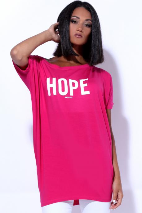 AMNESIA Bony filmnyomott felső hope rózsaszín