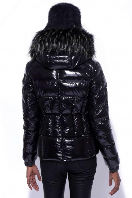 AMNESIA Fényes rövid kabát