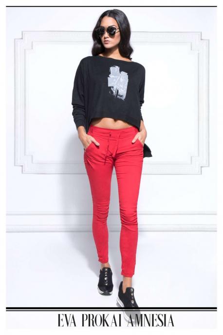 AMNESIA Nyomott pulóver