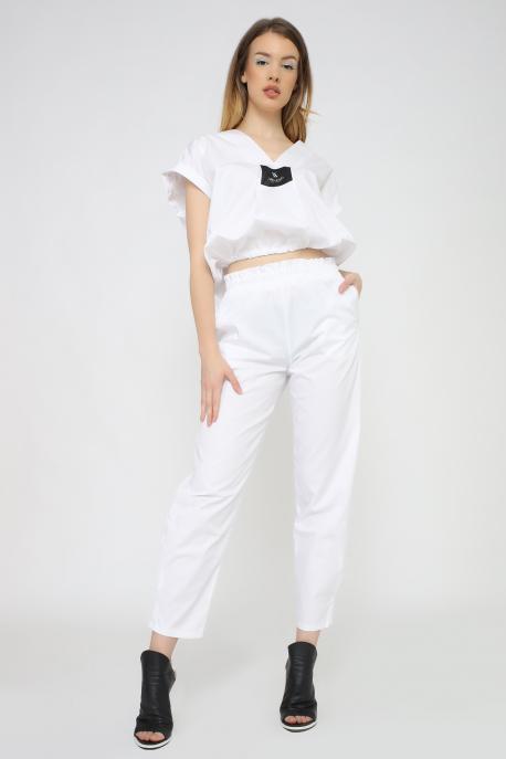 AMNESIA Naya nadrág fehér