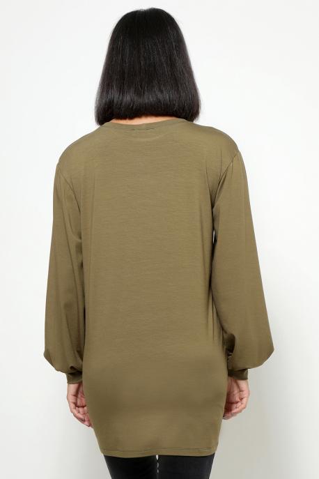 AMNESIA Arléna hosszú ujjú tunika khaki