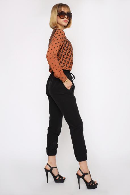AMNESIA Tiona nadrág fekete