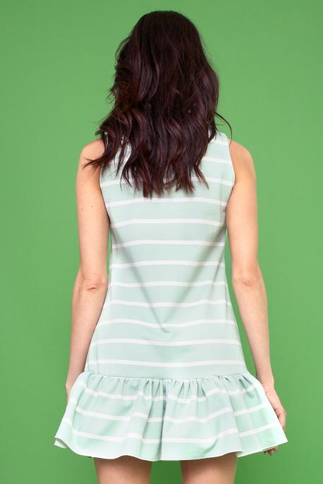AMNESIA Davena ruha zöld csíkos