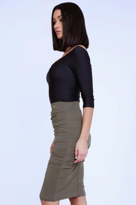 AMNESIA Durvun szoknya khaki