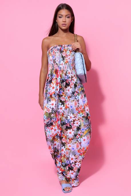 AMNESIA Dorottya mintás ruha színes virág