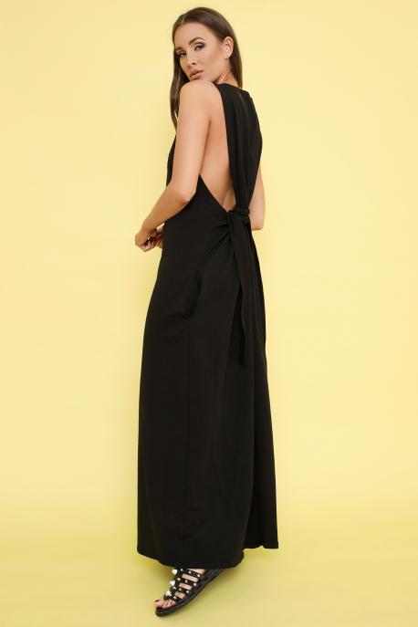 AMNESIA Selma maxi ruha fekete