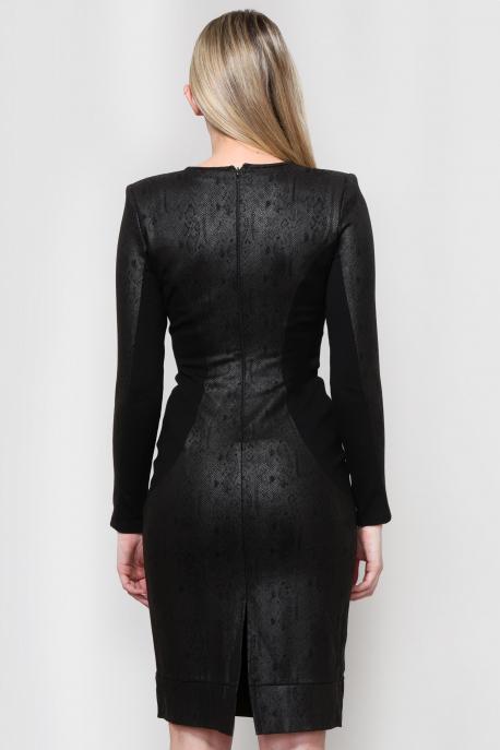 AMNESIA Fekete hosszú ruha