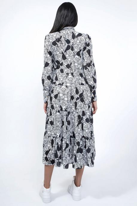 AMNESIA Jordan ruha fehér-fekete
