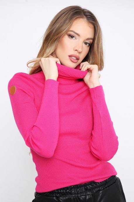 AMNESIA Garbó rózsaszín/bőr kör