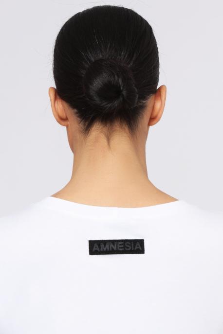 AMNESIA Arona 5 színű tunika fehér/szürke/fekete